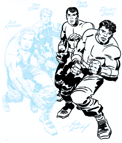 Digital Inking Jack Kirby - partial