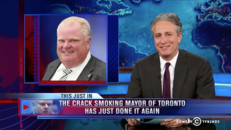 Jon Stewart and Rob Ford