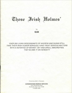 Those Irish Holmes (Cover)